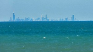 chicago skyline from indiana dunes