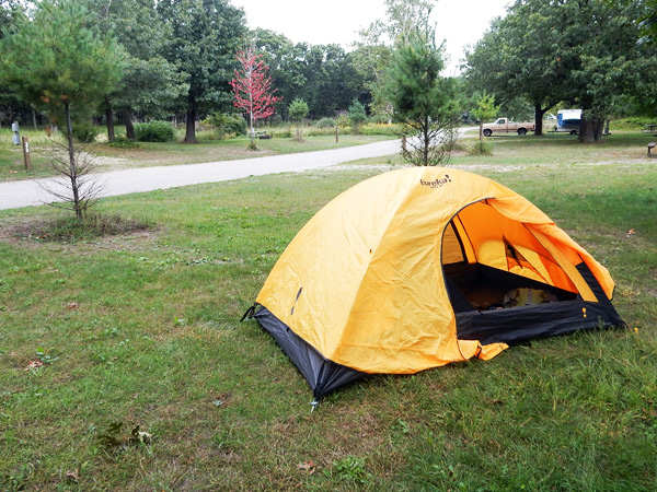 Tent Camping Sites Electric Walking Trail Illinois Beach S
